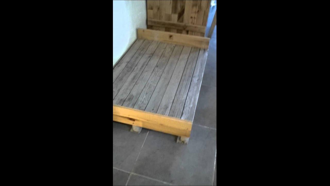 Como hacer una cama casera para perros con pale youtube - Como construir una cama ...