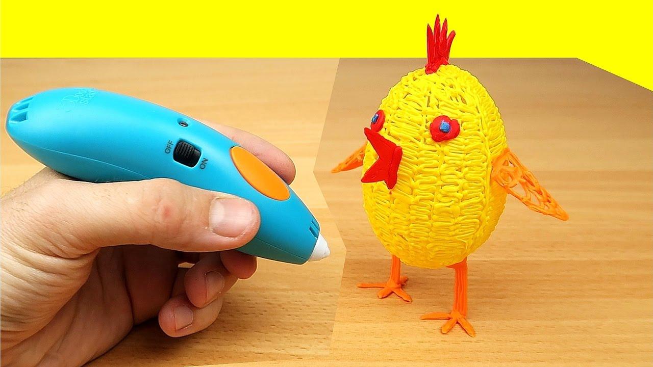 3D РУЧКА! Рисую Яйцо и Цыпленка! 3Doodler — alex boyko