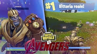 REAL VITTORY avec THANOS! montrer! Fortnite Battle Royale ITA!