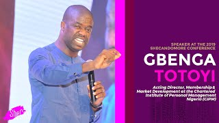 GBENGA TOTOYI CIPM Speaks at the SheCan Do More Conference 2019  SheCan Nigeria