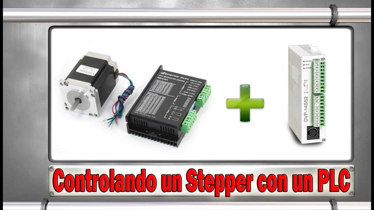 Controlando un motor stepper con un plc youtube for How to program stepper motor with plc