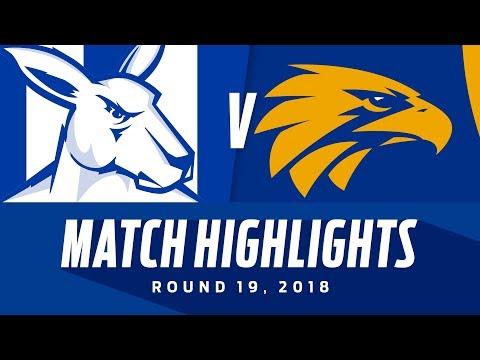 North Melbourne v West Coast Highlights | Round 19, 2018 | AFL