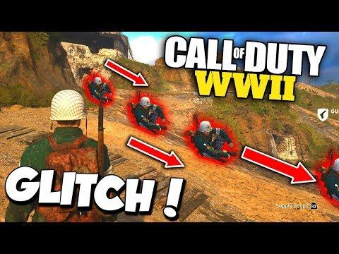 NEW HIDDEN GLITCH on Call of Duty WW2 HEADQUARTERS! (how to do it...)