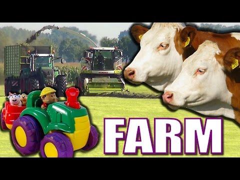 Joe MacDonald Kids Animals on Farms video with Farm Animals Horses Cows a Kids video of farm animals