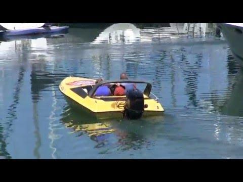 Departing the dock, San Diego Speedboat Adventures Bay Tour