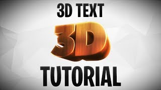 [PHOTOSHOP/C4D] How to make 3D Text for your Fortnite GFX
