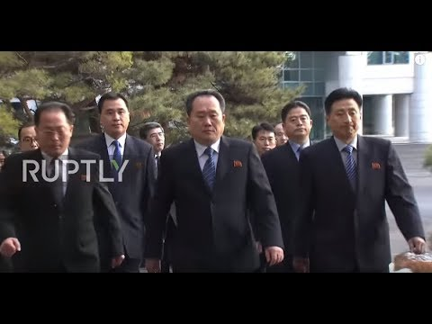 South Korea: North, South Korea delegations arrive in Panmunjom for historic talks