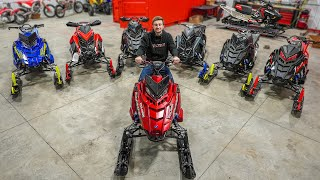 Unboxing 6 Brand New Snowmobiles!!