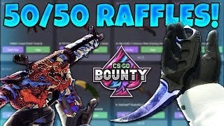 50/50 KNIFE RAFFLES & ROULETTE BETTING! (CS:GO BOUNTY)