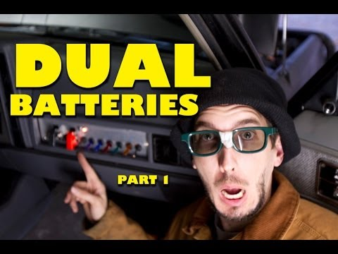 How To Install Dual Batteries  Part 1 of 2 - YouTube
