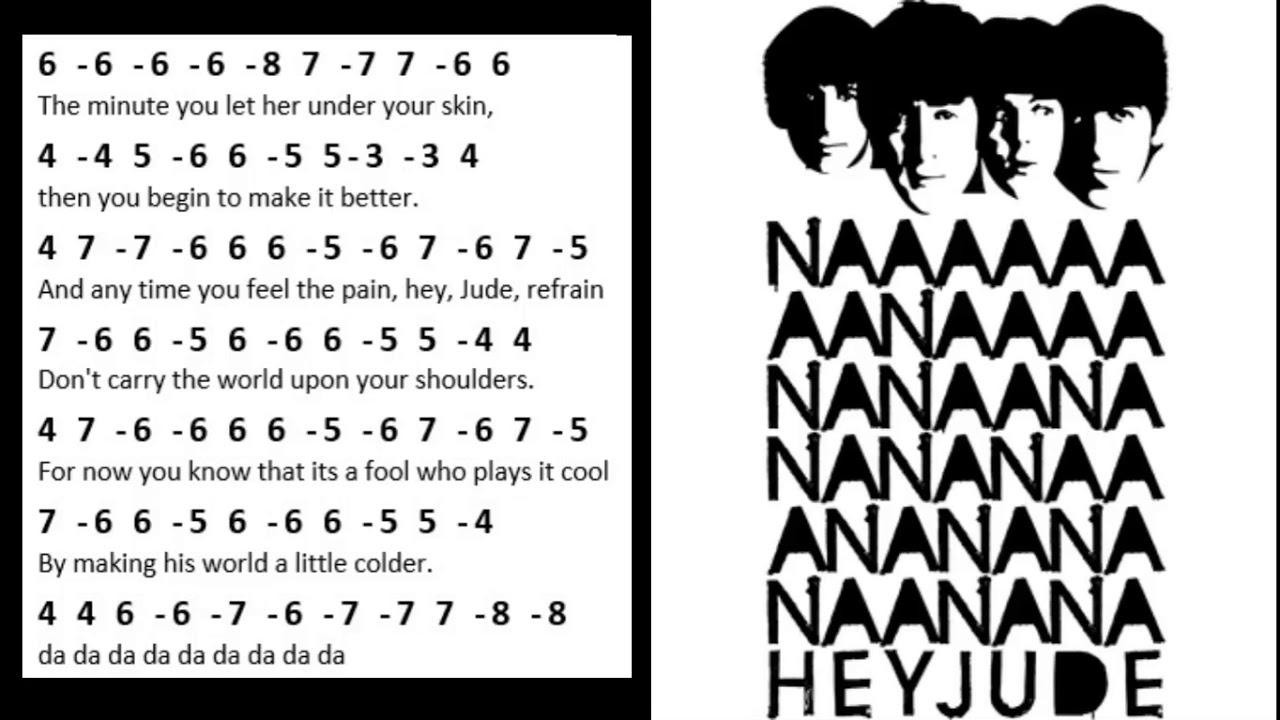 Hey Jude - harmonica tabs - tablatura para gaita