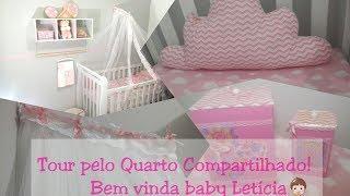 #Maternidade:Tour pelo quarto compartilhado: casal e bebê