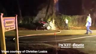 Witness Chris Loaiza recorded this video from a fatal car wreck on Dillon Road, Hilton Head Island, the night of March 1, 2015.