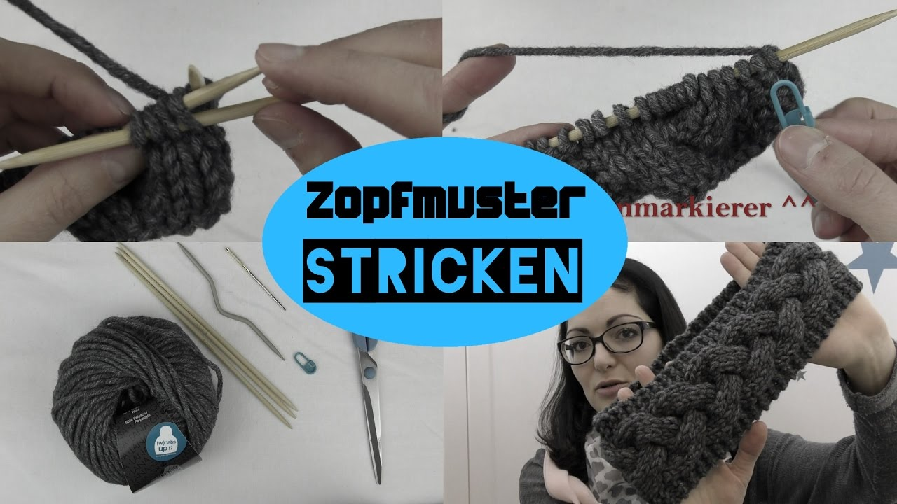 Zopfmuster stricken ❤ einfach ❤ Stirnband ❤ AnnCooki - YouTube