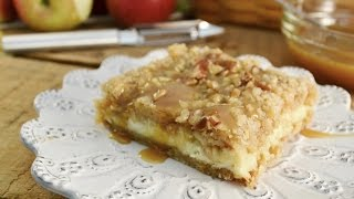 Apple Streusel Cheesecake Bars Recipe | Radacutlery.com