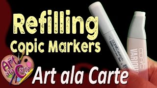 How to Refill a Copic Marker and how to Fix Overfilling