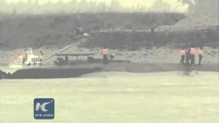 UPDATE: 14 rescued after ship sinks in Yangtze River