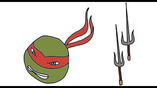 How To Draw Raphael And Sai From Teenage Mutant Ninja Turtles TMNT Episodes - Itsy Artist