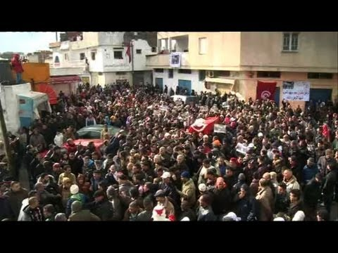 Thousands gather for Tunisian slain politician funeral