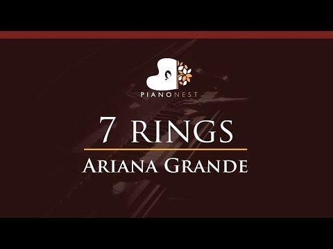 Ariana Grande - 7 rings - HIGHER Key Piano Karaoke  Sing Along