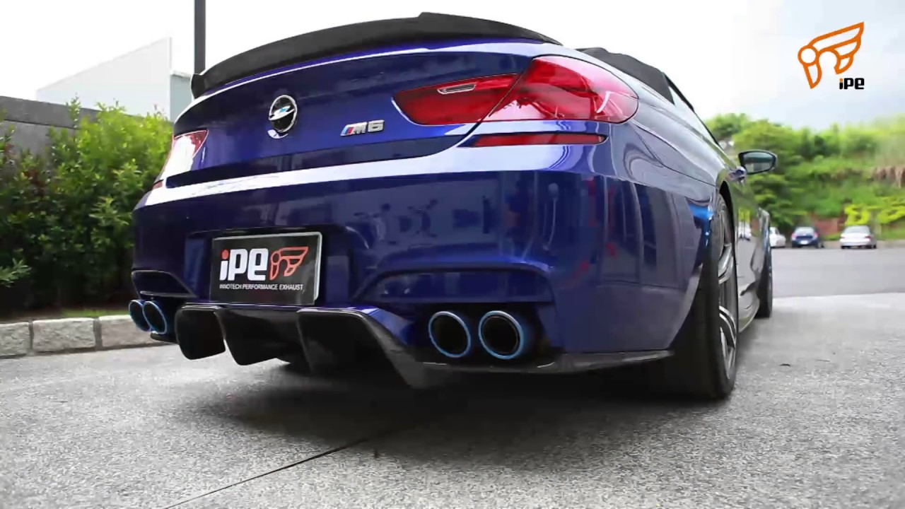 iPE titanium exhaust for BMW F12 F13 M6 - YouTube