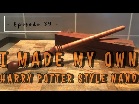 """How To Make Your Own """"Harry Potter"""" Style Magic Wand // Woodturning"""
