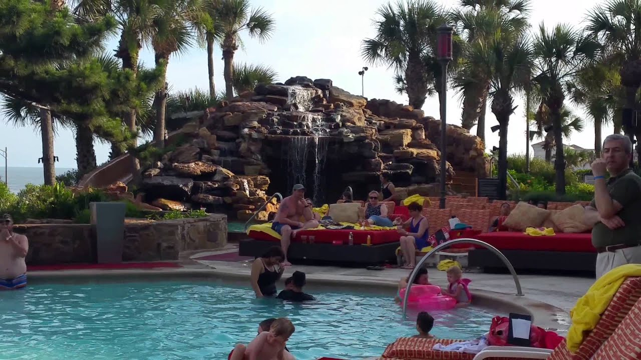 hotel pool view san luis resort galveston youtube. Black Bedroom Furniture Sets. Home Design Ideas