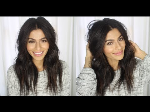 Messy Wavy Hair Tutorial | How To Hairstyles + Hair Tutorials | Teni Panosian