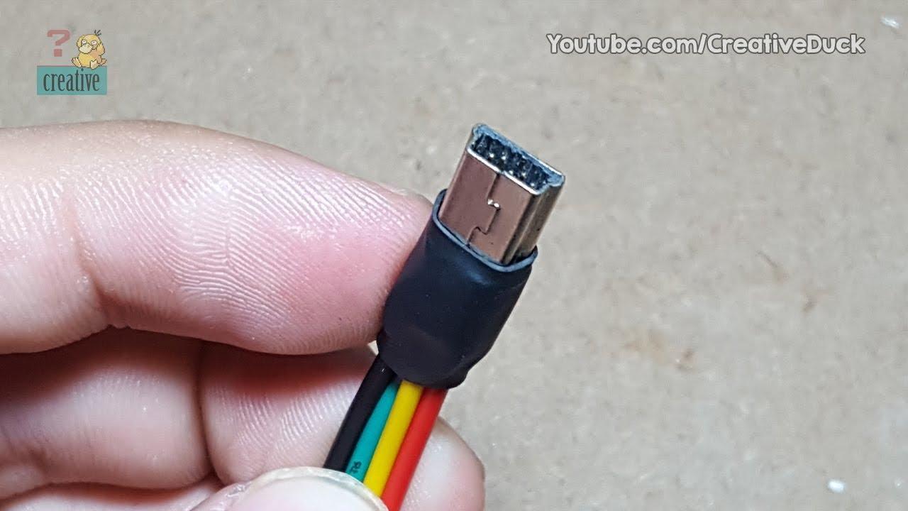 Build mini USB cable