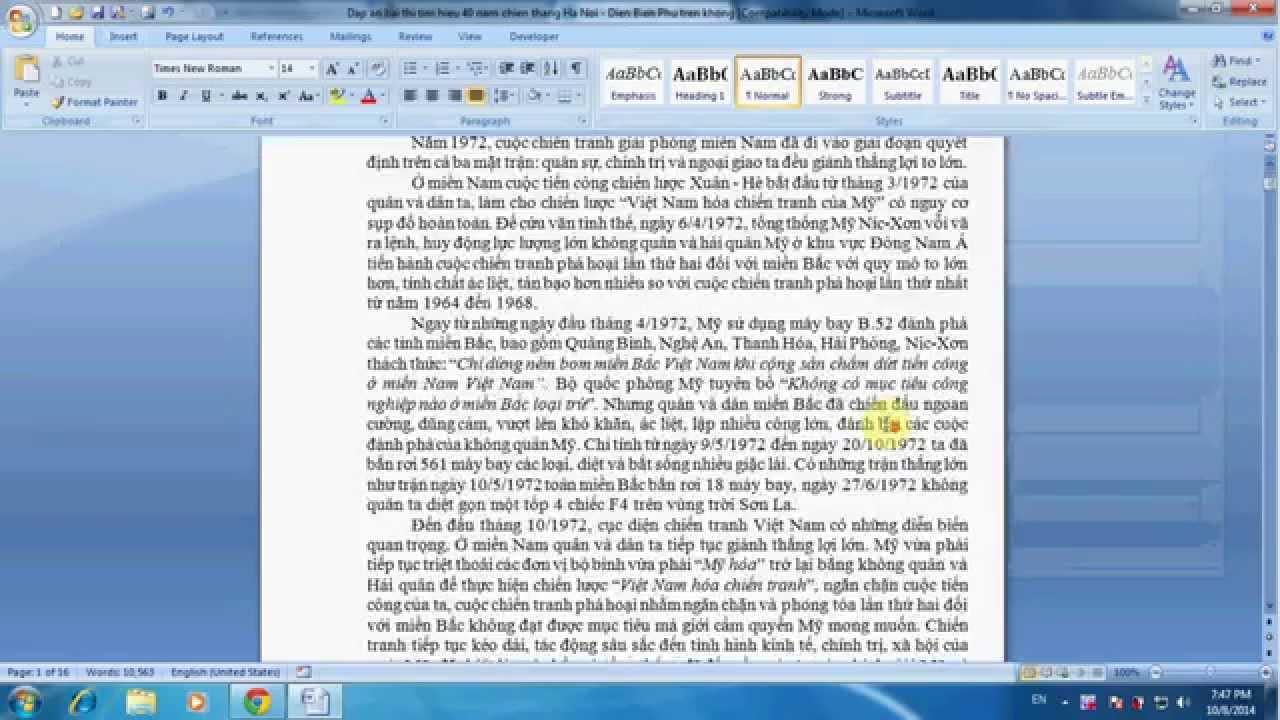 Cách đánh số trang, bỏ đánh số trang trong Word