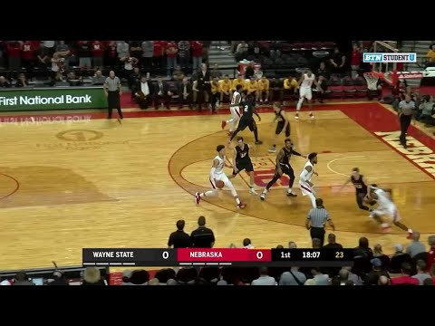 Highlights: Wayne State at Nebraska | Big Ten Men's Basketball
