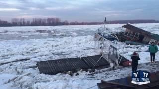 Zemunski kej, Dunav i led