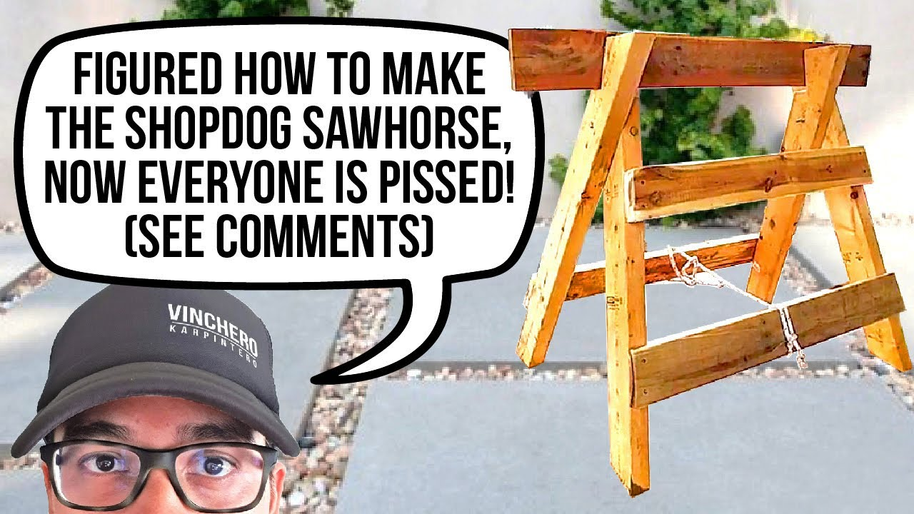 Diy Shopdog Sawhorse With Plans