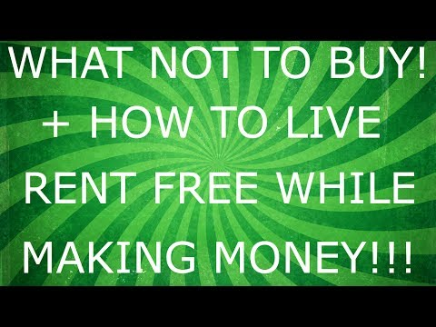 WHAT NOT TO BUY!- LIVE RENT FREE WHILE MAKING MONEY!- HOW TO USE AMAZON TO BUILD WEALTH