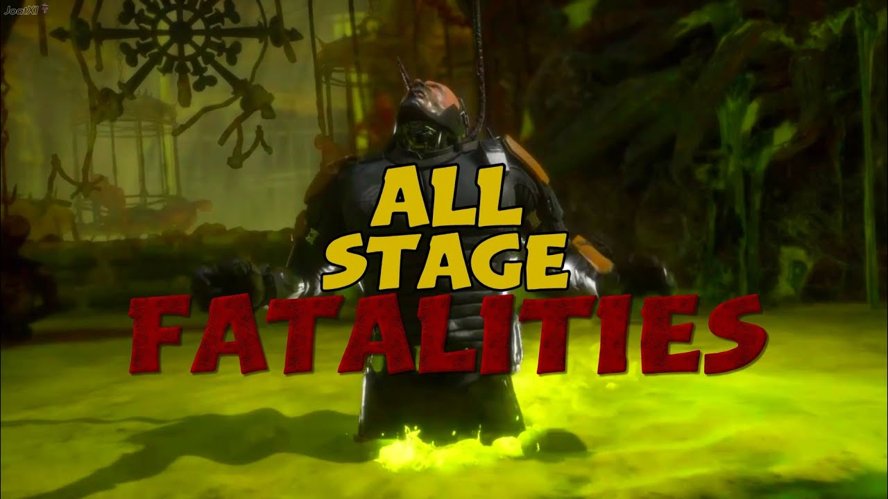 MORTAL KOMBAT 11 ALL STAGE FATALITIES (MK11 AFTERMATH EXPANSION)
