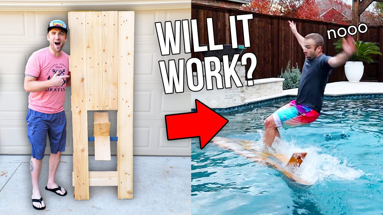 WE MADE A GIANT POPSICLE STICK BOAT!!...will it work?...