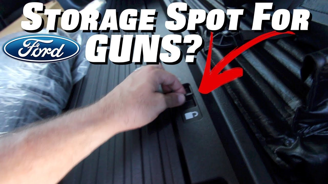 2018 Ford F150 Interior >> Here's a Hidden Spot for your Gun / Rifles in Ford F150 ...