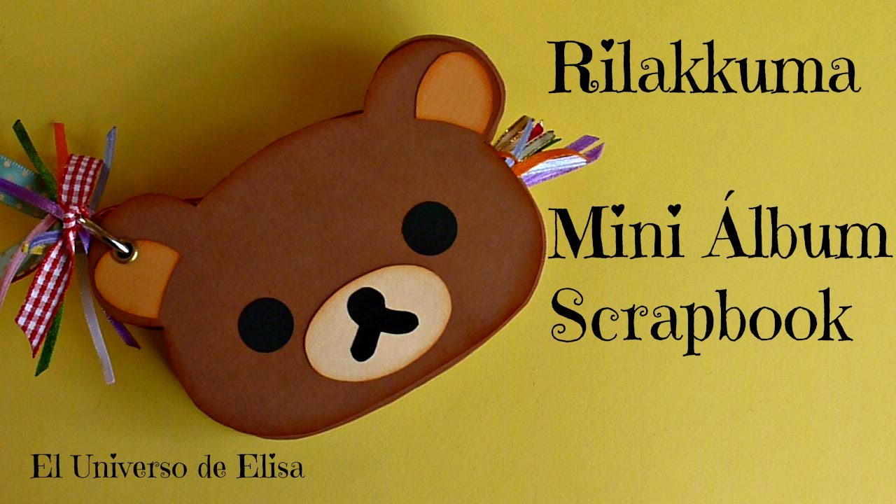 Scrapbook ideas tutorial - Rilakkuma Mini Lbum Kawaii Scrapbooking Album Tutorial Kawaii Crafts Cute Scrapbook Ideas