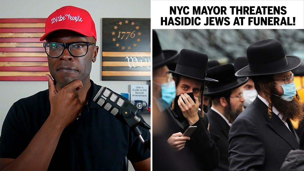 Bill de Blasio THREATENS Hasidic Jews At FUNERAL Gathering!