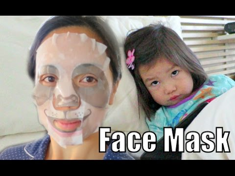 Kid's Reaction to My Face Mask - November 28, 2015 -  ItsJudysLife Vlogs