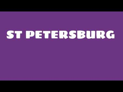 What is the population of St Petersburg?