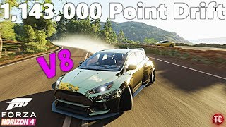 Forza Horizon 4 Demo: MASSIVE 1,143,000 Point Drift Combo!! 1k HP, RWD, V8 Focus RS