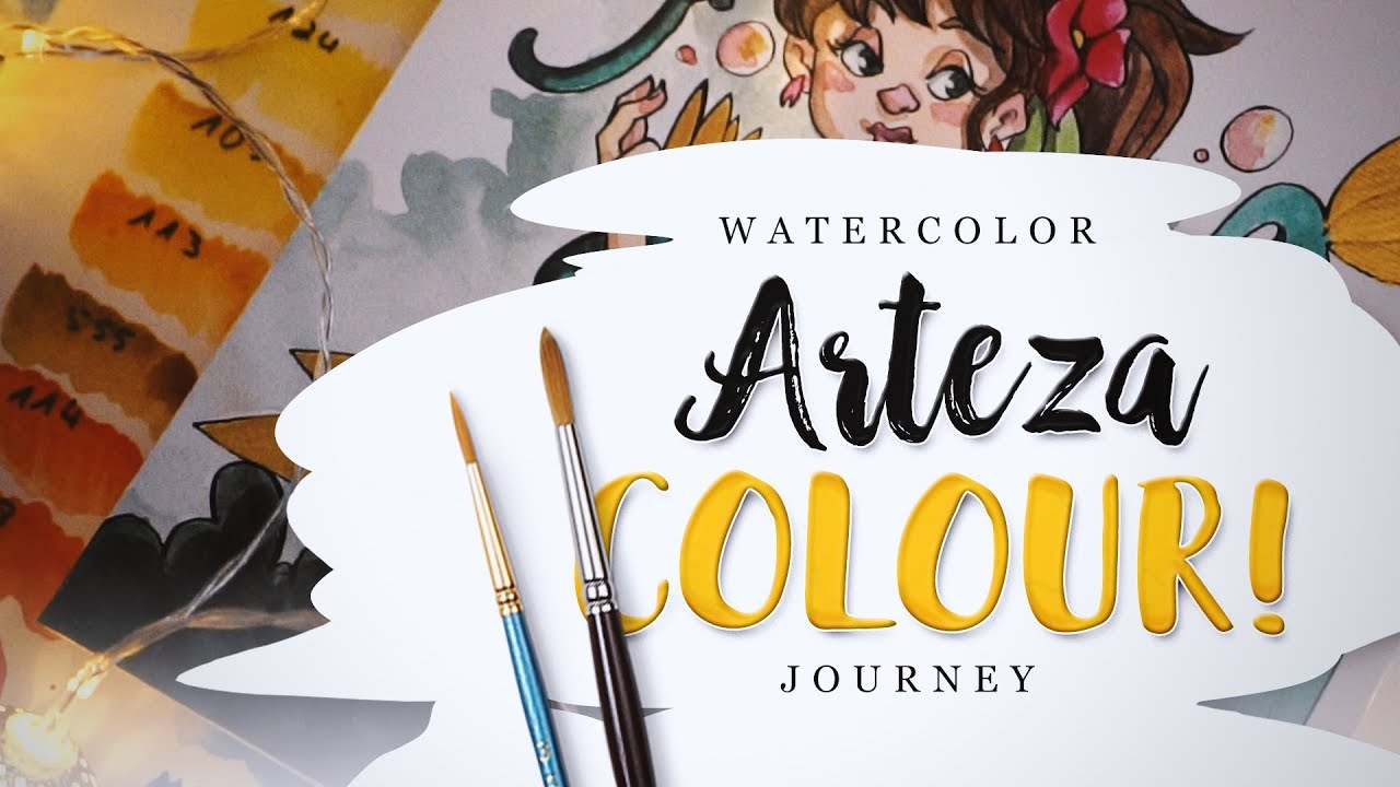 36 Arteza Aquarellfarben Test 6 My Watercolour Journey Youtube