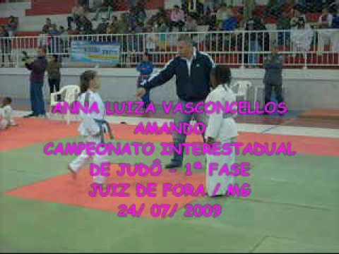 Anna Luiza Vasconcellos no Campeonato Interestadual de Judô/ 2009 - Juiz de Fora/MG - 1ª Fase