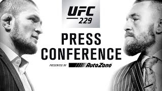 UFC 229 Press Conference: Khabib vs McGregor