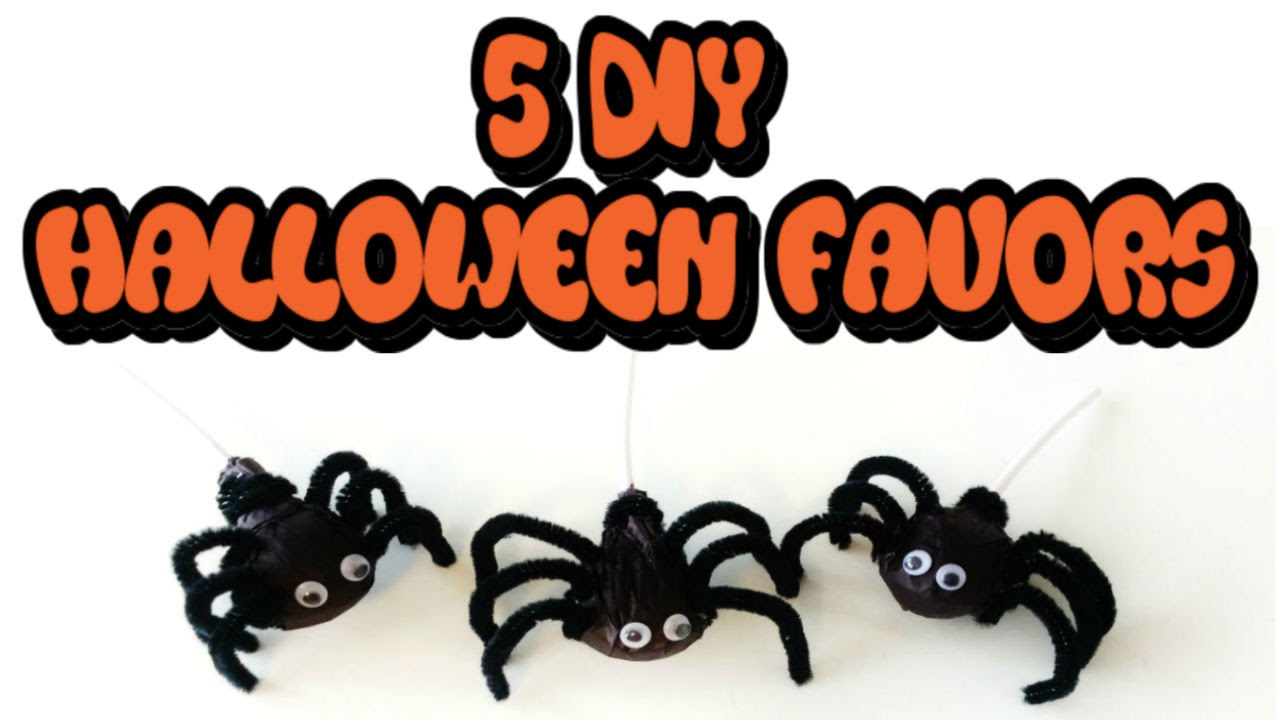 5 diy halloween favors easy cheap great party favors or for trick or treaters - Diy Halloween Favors