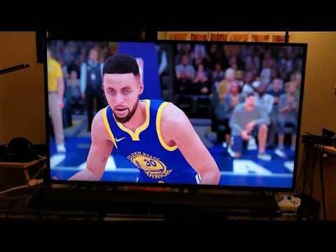 NBA 2K18 PS4 Pro 4K HDR : TCL Roku TV 55p605 vs Samsung KS-8000 65inch