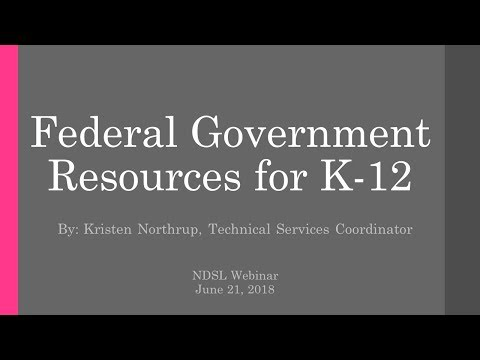 Federal Government Resources for K-12 kids & educators