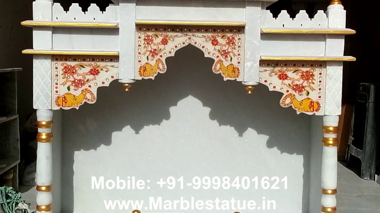 Marble Pooja Temple For Home   Www.Marblestatue.in