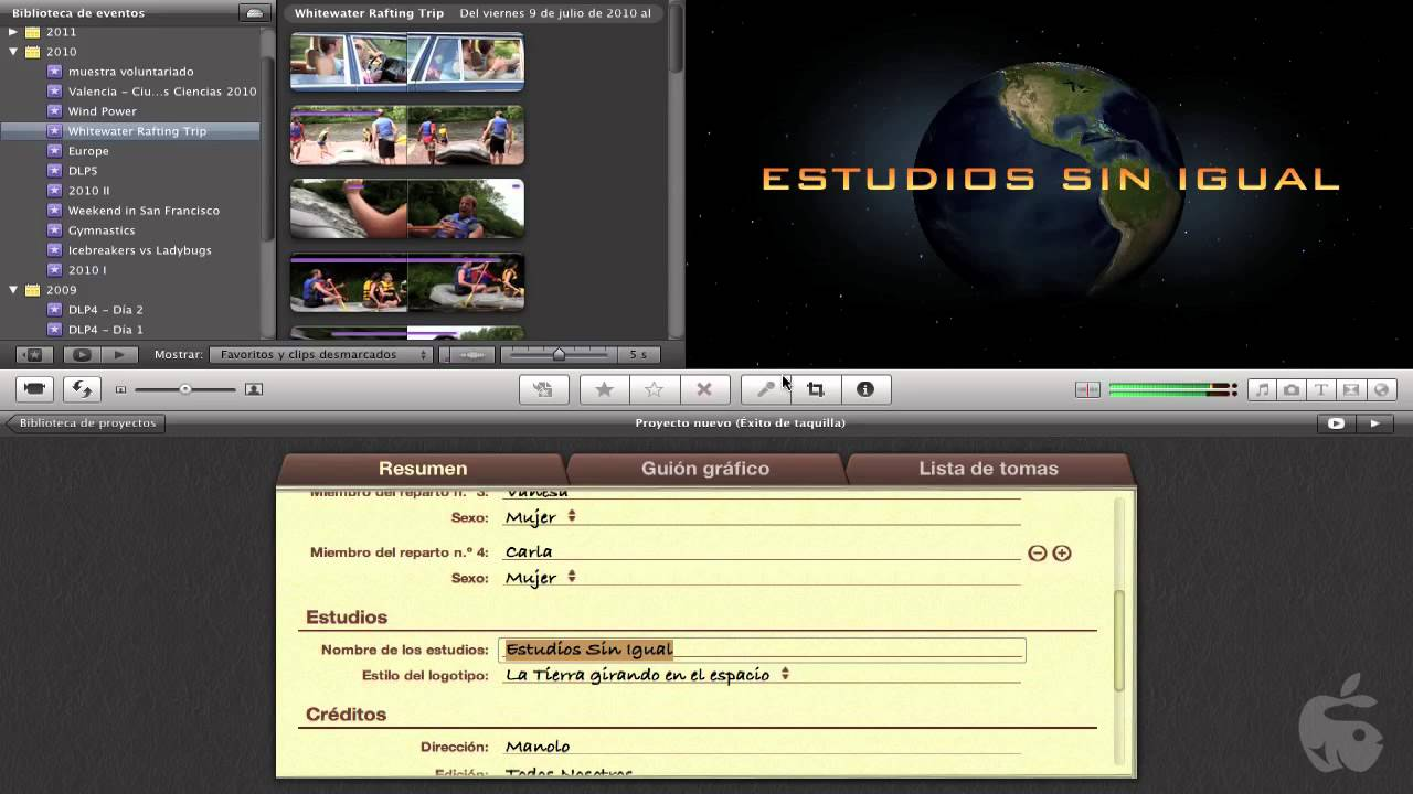 016 Curso iMovie´11 - Creando Nuestro Trailer 1 - YouTube